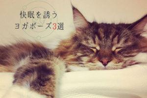 寝る前に効果的なヨガポーズ