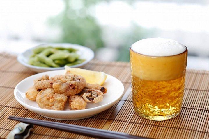唐揚げとビール